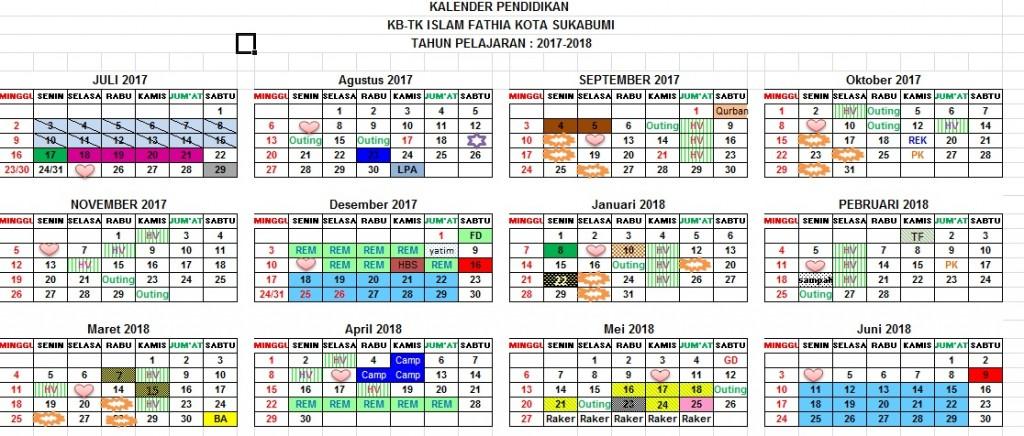 Foto Kalender Pendidikan TK Islam Fathia